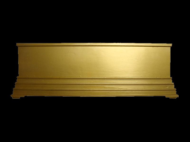 หีบศพทรงธรรมพ่นสีทอง