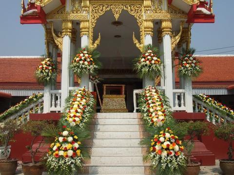 ดอกไม้ประดับเมรุ 02 Suriya Coffin
