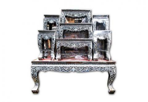 โต๊ะหมู่มุก3 - Suriya Coffin สุริยาหีบศพ
